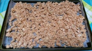 Making a Tofu Ground Beef Substitute - spread on sheet pan