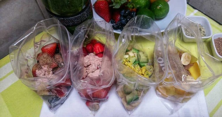 Super Easy Prep Ahead Super Fruit and Veggie Smoothies