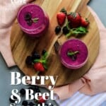 Pin for pinterest graphic with smoothie image and text