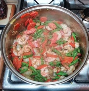 Easy Vegetable Shrimp Thai Green Curry_Step-4
