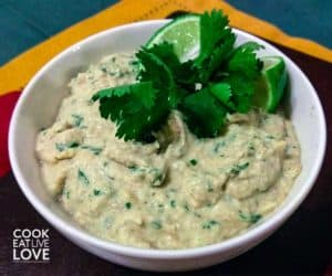 Bowl of jalapeno hummus