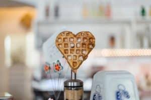 Heart shaped waffle