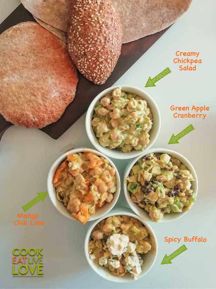 Different variations possible by adding other ingredients