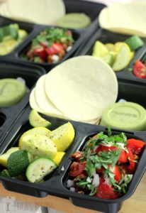 To go containers with compartments show how to pack up this recipe to go easily for fabulous transport.