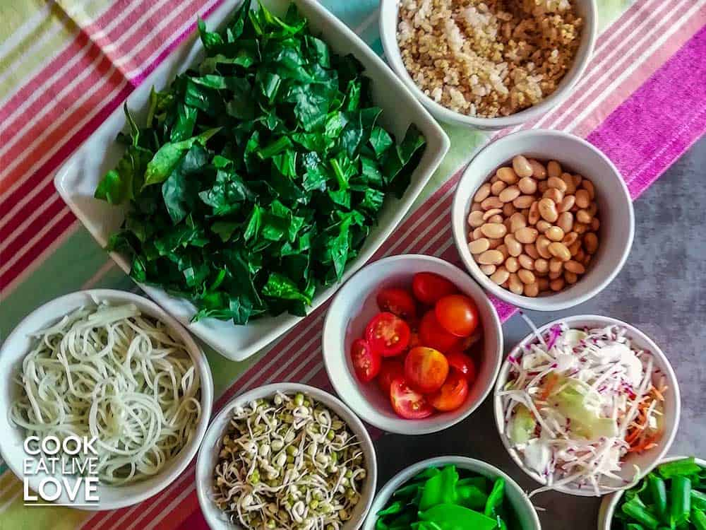 Making Whole Grain Protein Lunch Bowls
