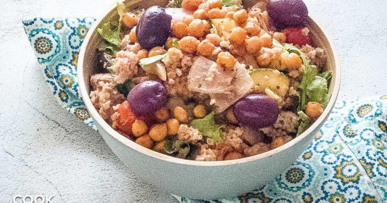 Vegan Mediterranean Bulgur Bowl