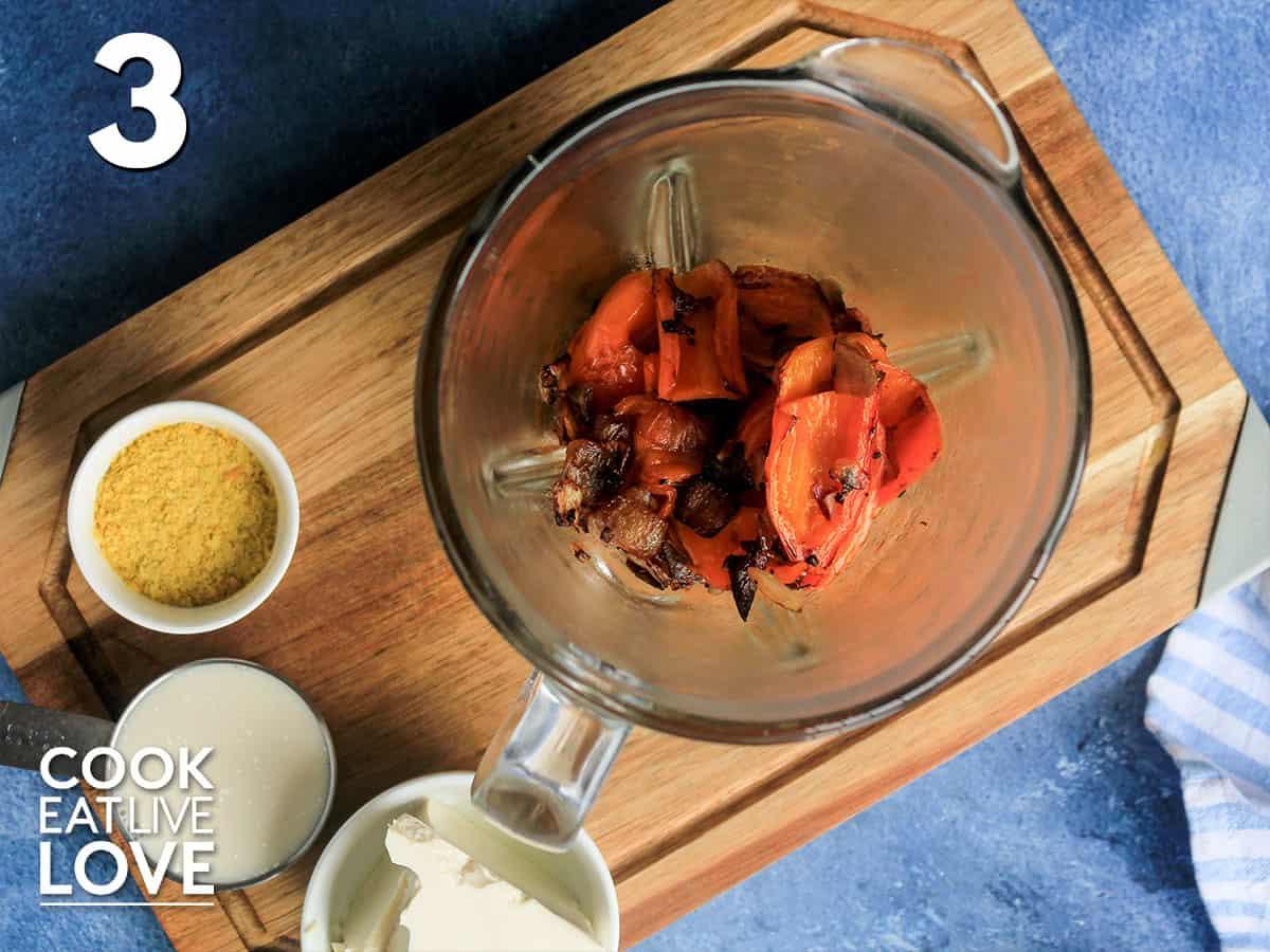 Aji amarillo in blender to make huancaina sauce