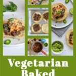 Pin for pinterest graphic with multiple images of tostadas and text