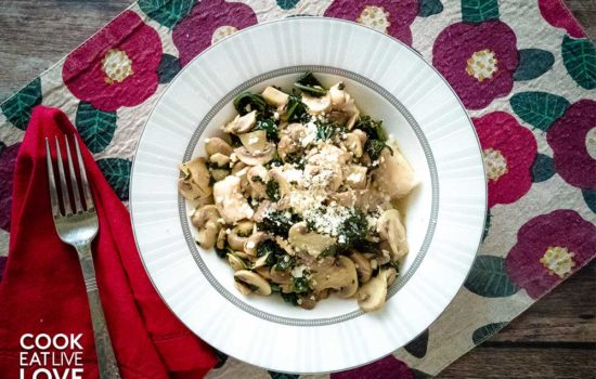 Whole Wheat Ricotta Gnocchi & Herbed Mushrooms
