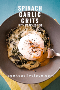Pin for spinach garlic grits