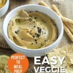 Pin for pinterest graphic for flavored hummus