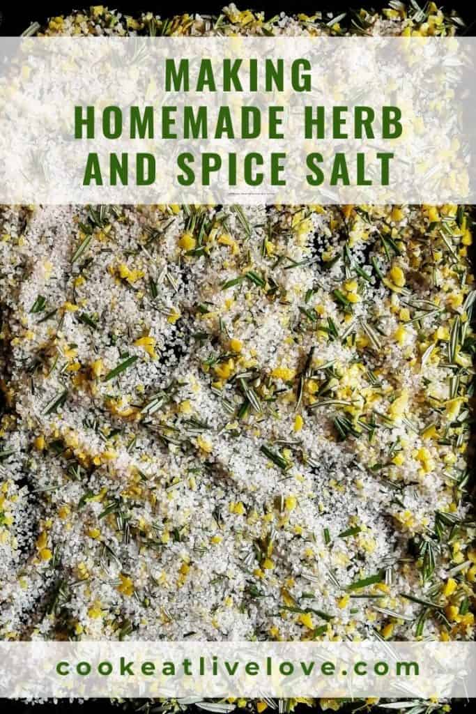 Homemade herb salt pin for pinterest