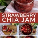 PIn for pinterest graphic with multiple images of instant pot strawberry jam