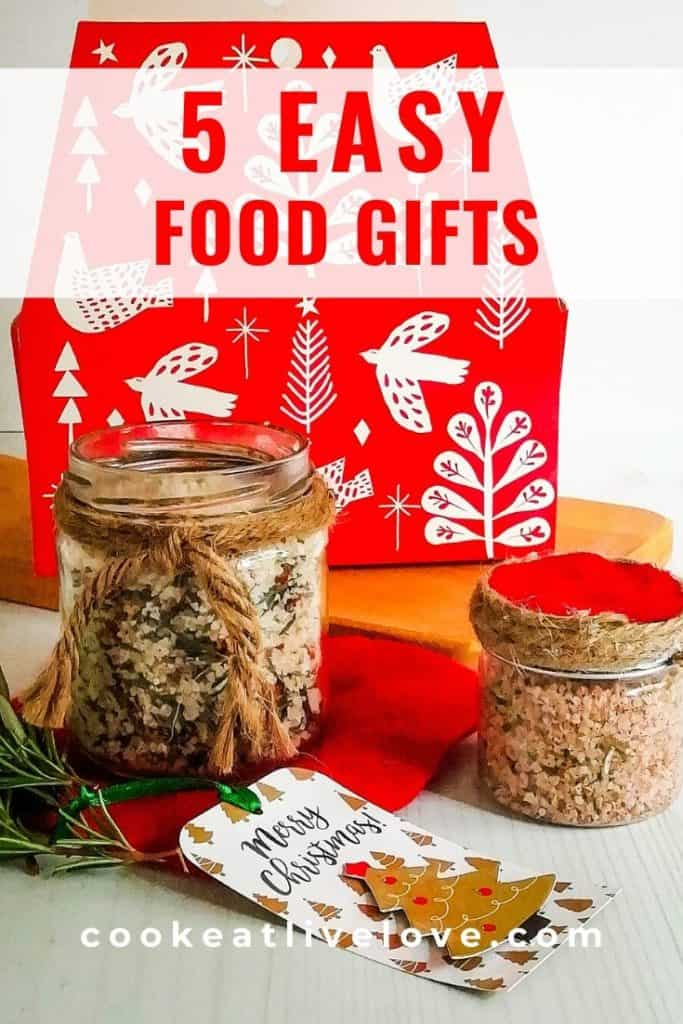 Pin for pinterest of 5 Easy Food Gifts