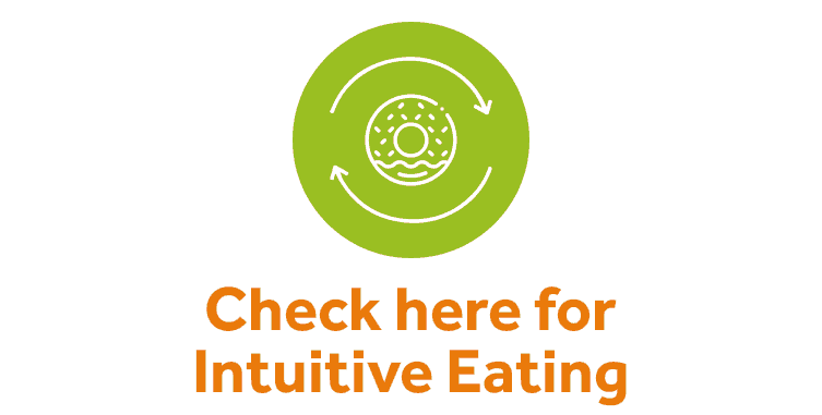 Graphic for intuitive eating