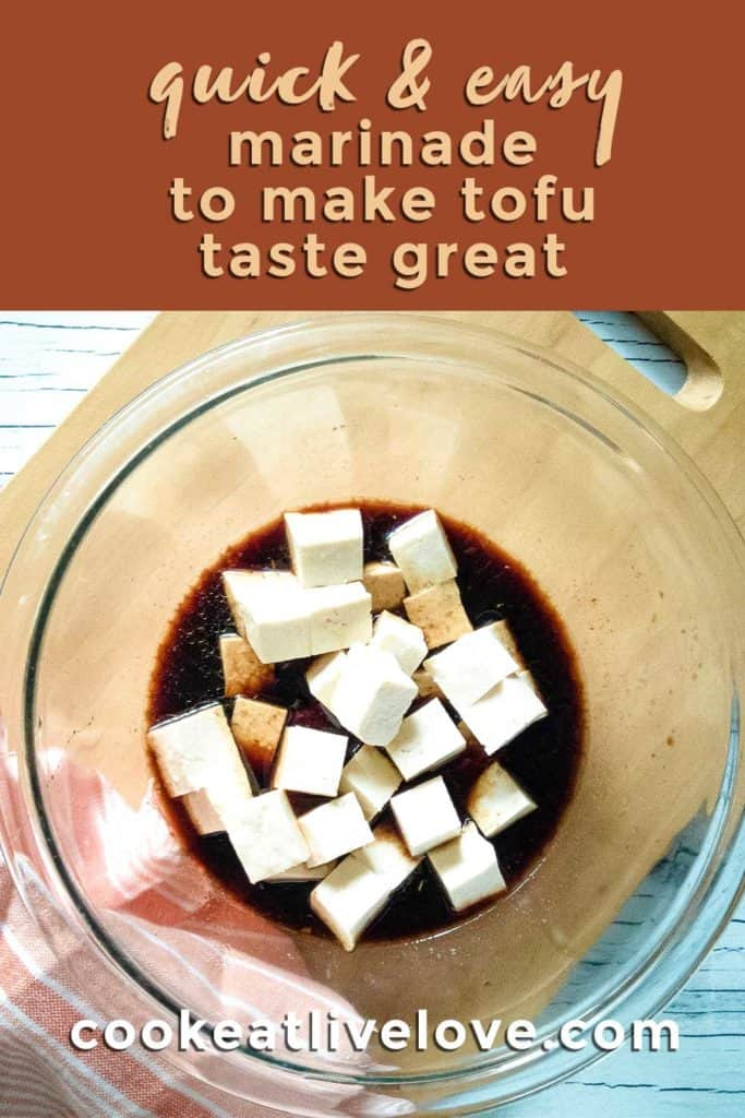 garlic soy tofu pin for how to make tofu taste great