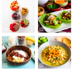 Photo of four delicious dishes from blog.