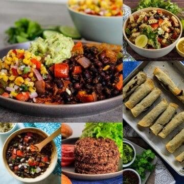 Collage of Black Bean Vegetarian Recipes