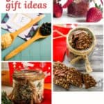 PIn for pinterest of DIY food gifts for friends with photos of different options in the post.