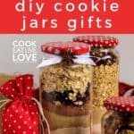 Pin for pinterest with ready to give cookie jar gift.