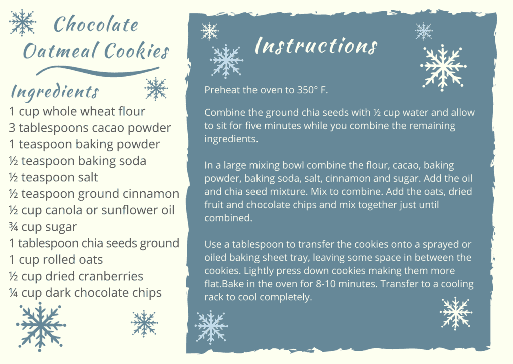 Recipe card sample created in Canva.