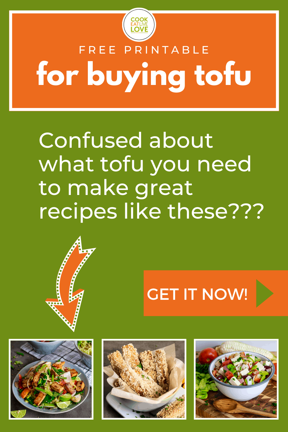 Sign up for freebie tofu buying guide.