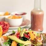 Salad on plate on a table