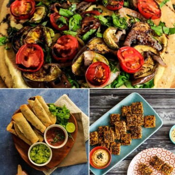 Pictures of food served up for party