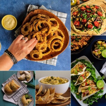 Collage of food images served up