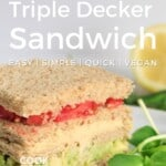 Pin for pinterest graphic with image of sandwich and text