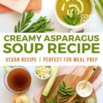 Pin for pinterest graphic with soup images and text