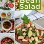 Pin for pinterest graphic with multiple images of salad