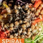 Pin for pinterest graphic with image of salad and text