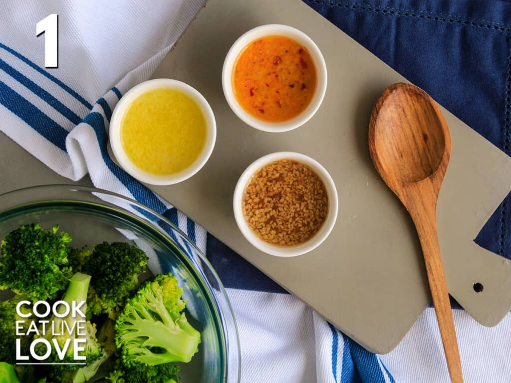 Three different marinades or seasonings to add to make broccoli taste better