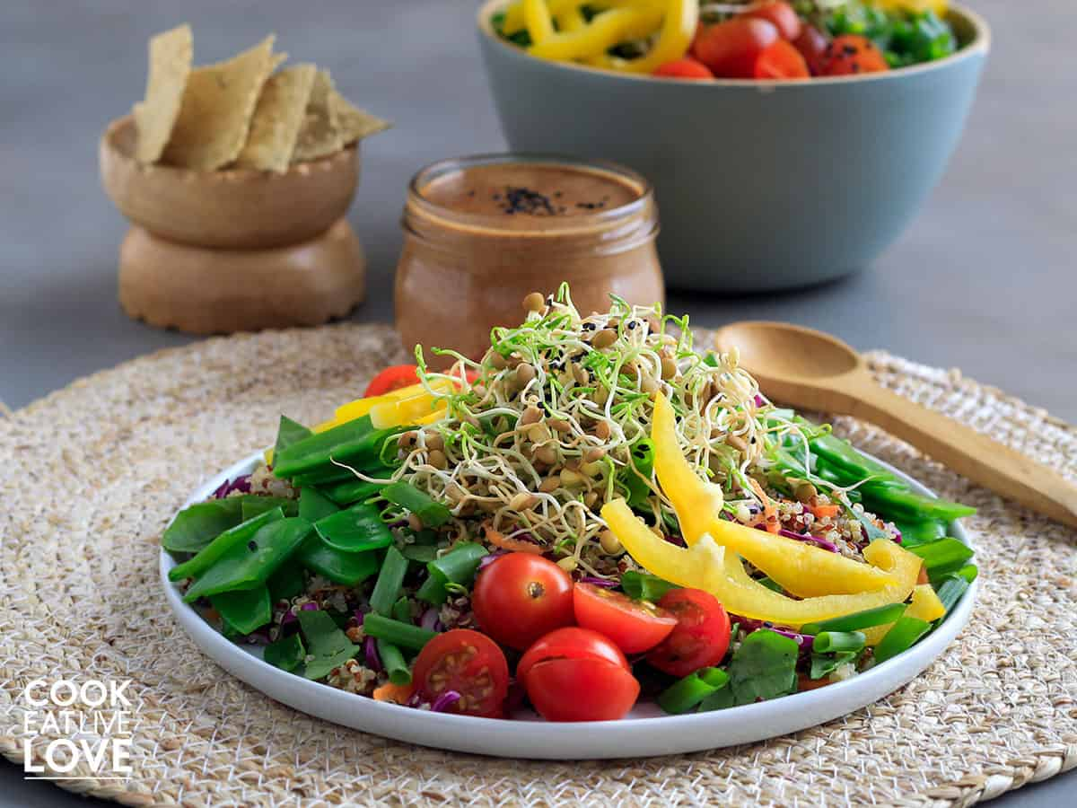 Lentil sprouts recipe served up on a salad
