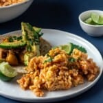 Instant Pot spanish rice served up on plate